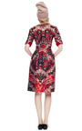 Printed Silk Blend Belted Dress by OSCAR DE LA RENTA Now Available on Moda Operandi