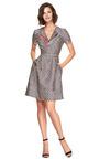 Printed Silk Blend V Neck Dress by OSCAR DE LA RENTA Now Available on Moda Operandi