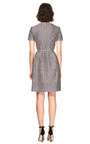 Printed Silk Blend V Neck Dress by OSCAR DE LA RENTA Now Available on Moda Operandi