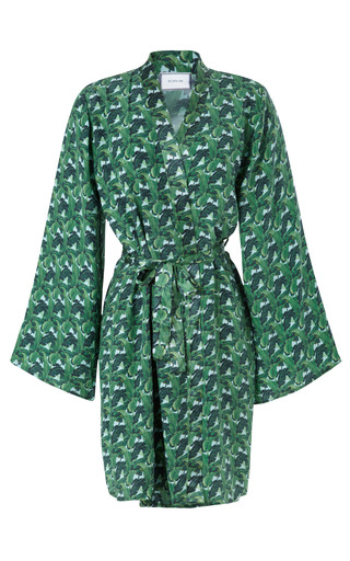 Medium poplin multi indochine silk dressing gown