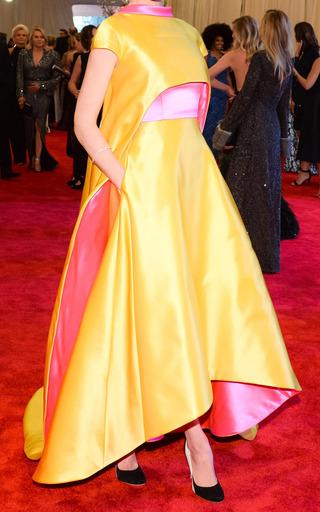 Medium prabal gurung pink taroni double faced satin gown