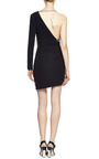 Bonded Crepe And Macrame One Sleeve Halter Dress by ANTHONY VACCARELLO Now Available on Moda Operandi