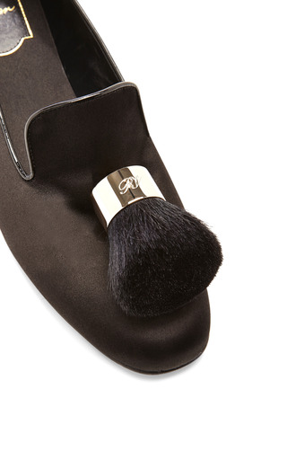 Pinceau Satin Tasseled Slippers by ROGER VIVIER Now Available on Moda Operandi