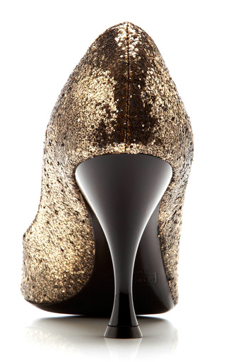Glitter Galactica Pump With Patent Heel by MARC JACOBS Now Available on Moda Operandi