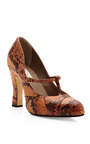 Python Patchwork Mary Jane Pumps by MARC JACOBS Now Available on Moda Operandi