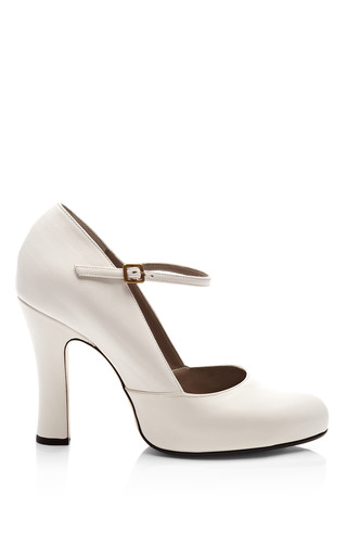 Medium marc jacobs white leather mary jane pumps 2