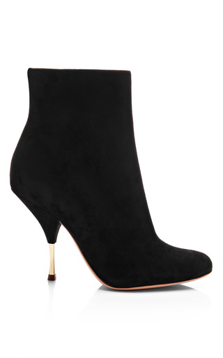 Medium rochas black suede ankle boots