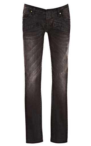 Medium pierre balmain black acid wash skinny denim jeans