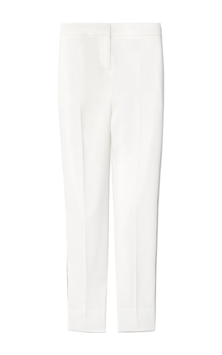 Medium pierre balmain white fitted cropped tuxedo pants