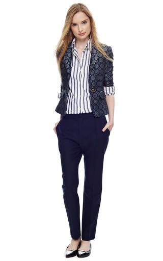 Silk Blend Shrunken Jacquard Blazer by PIERRE BALMAIN Now Available on Moda Operandi