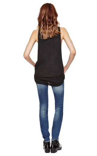 Printed Cotton Jersey Tank Top by PIERRE BALMAIN Now Available on Moda Operandi