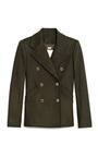 Double Breasted Felt Peacoat by PIERRE BALMAIN Now Available on Moda Operandi