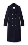 Long Double Breasted Twill Coat by PIERRE BALMAIN Now Available on Moda Operandi