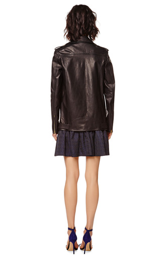 Classic Leather Biker Jacket by PIERRE BALMAIN Now Available on Moda Operandi