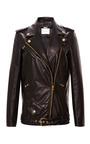 Classic Leather Biker Jacket by PIERRE BALMAIN Now Available on Moda Operandi