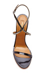 Cannes Metallic Leather Strappy Sandals by AQUAZZURA Now Available on Moda Operandi