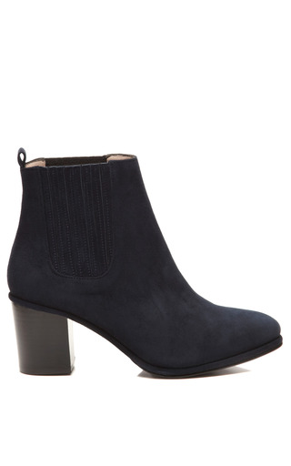 Medium opening ceremony blue brenda suede ankle boots