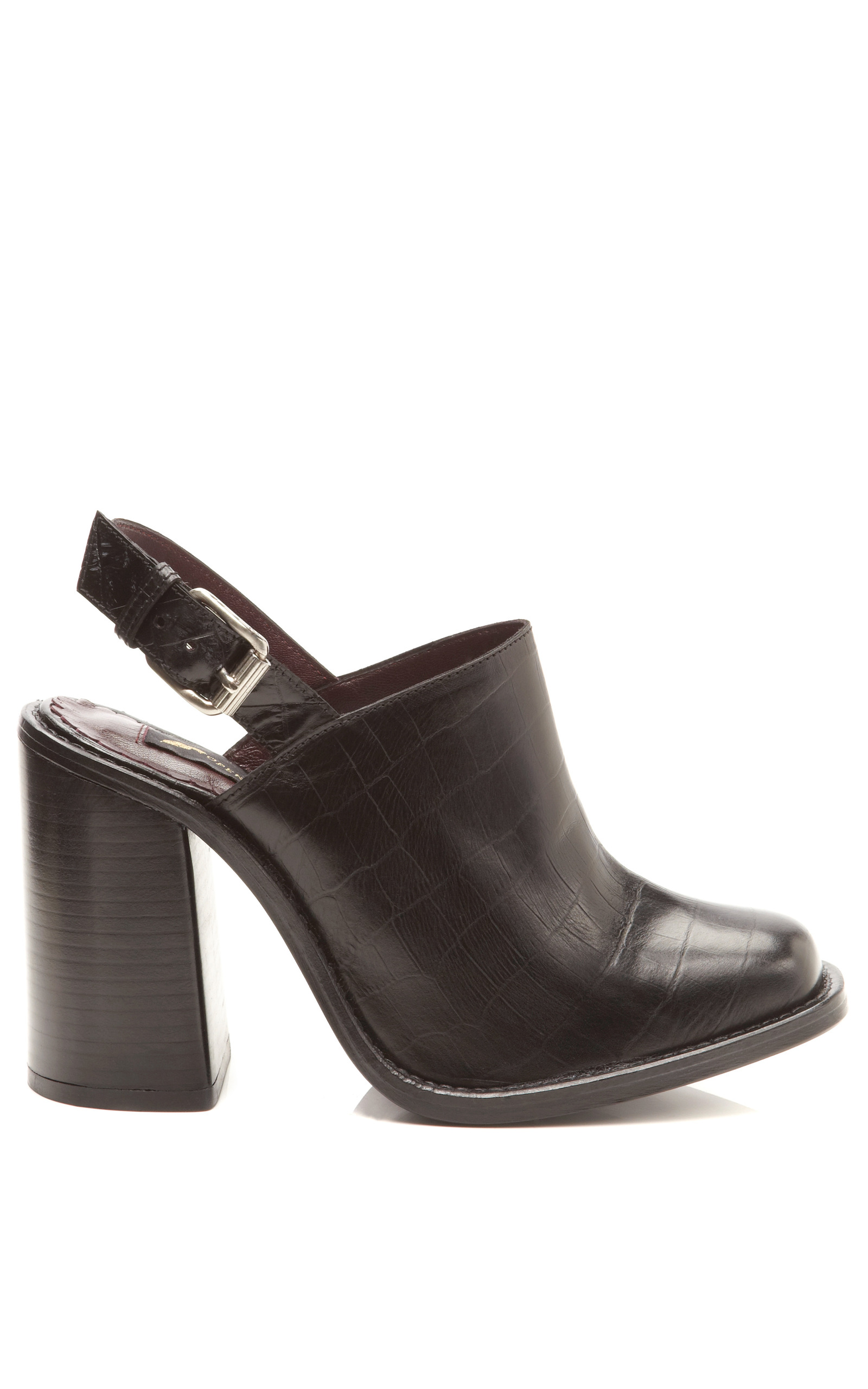 Opening Ceremony Embossed Leather Mules clearance affordable outlet store online b3xbVR