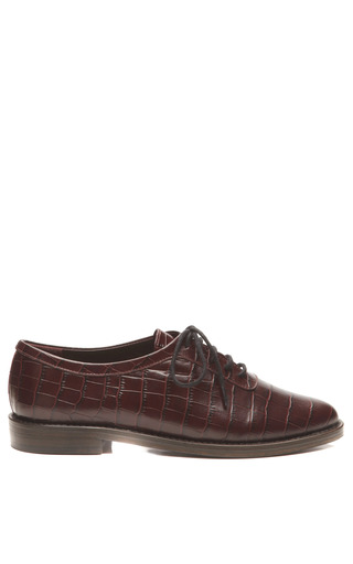 Medium opening ceremony burgundy embossed leather oxfords