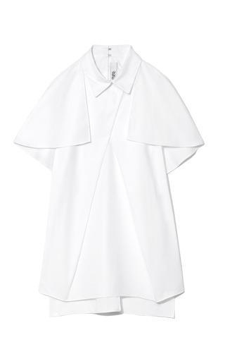 Draped Front Capelet Blouse by PRABAL GURUNG Now Available on Moda Operandi