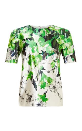 Medium prabal gurung multi floral print satin top
