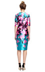 Floral Printed Fitted Satin Dress by PRABAL GURUNG Now Available on Moda Operandi