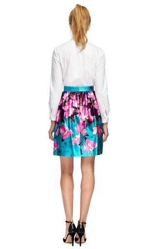 Floral Printed Gathered Skirt by PRABAL GURUNG Now Available on Moda Operandi