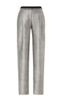 Pleated Front Wide Slacks With Tuxedo Stripe by PRABAL GURUNG Now Available on Moda Operandi