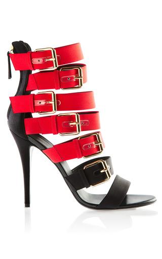 Medium fausto puglisi black setadrap sandal