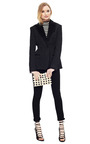 Jacquard Blazer With Faux Astrakhan Collar by ROCHAS Now Available on Moda Operandi