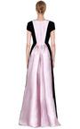Velvet And Satin Bustle V Neck Gown by ROCHAS Now Available on Moda Operandi