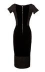 Jacquard Dress With Velvet Back by ROCHAS Now Available on Moda Operandi