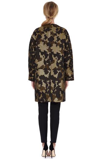 Metallic Jacquard Oversized Coat by ROCHAS Now Available on Moda Operandi
