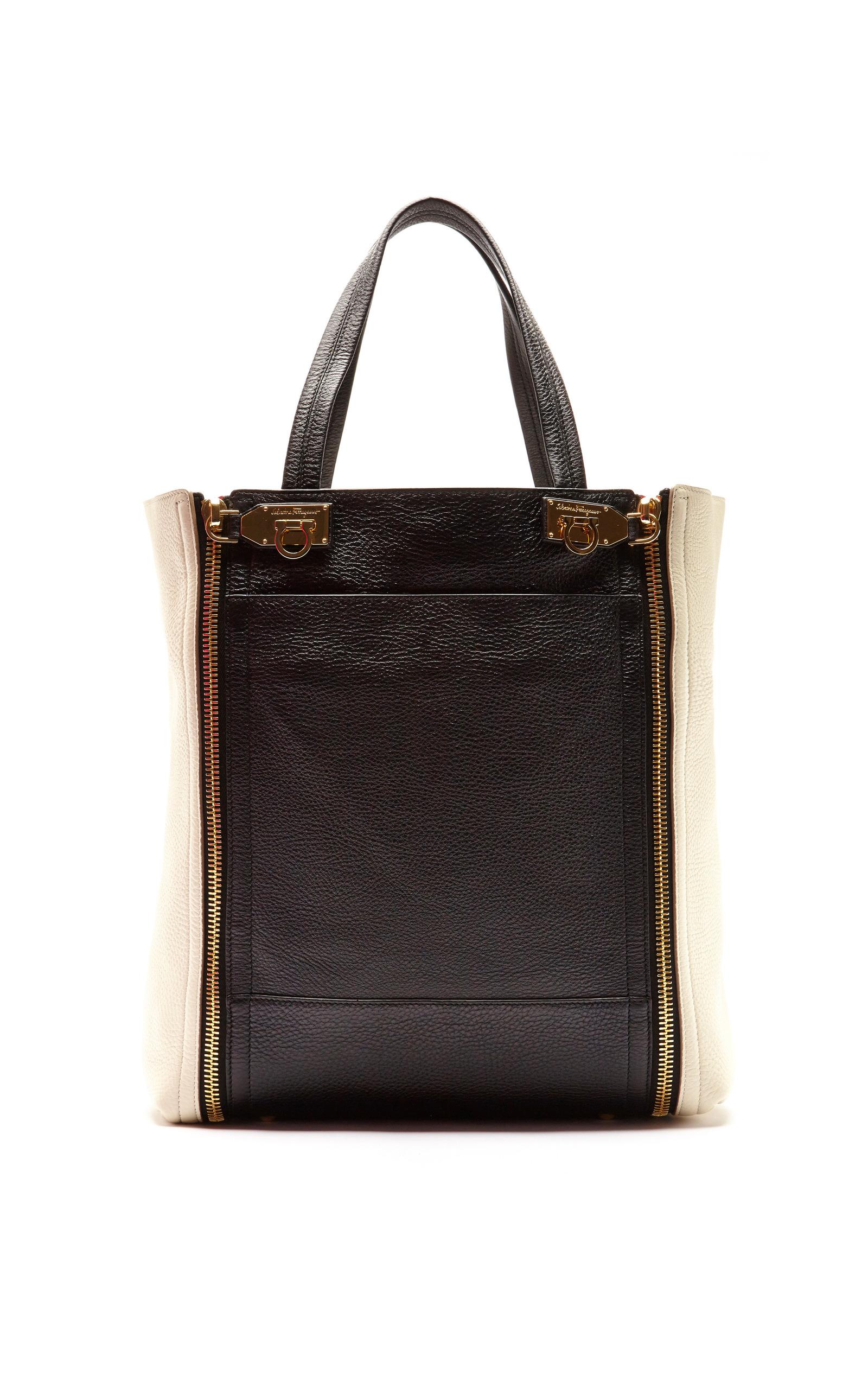 198ebba3fa Salvatore FerragamoSuzanne Two-Tone Leather Tote Bag. CLOSE. Loading