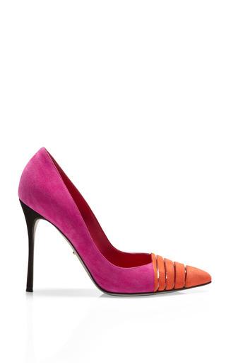 Medium sergio rossi pink claire suede pvc pumps