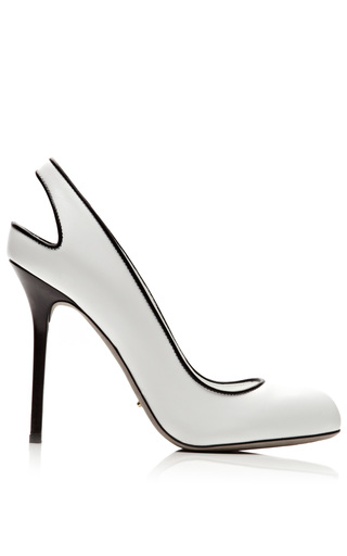 Medium sergio rossi white kaleido leather pumps