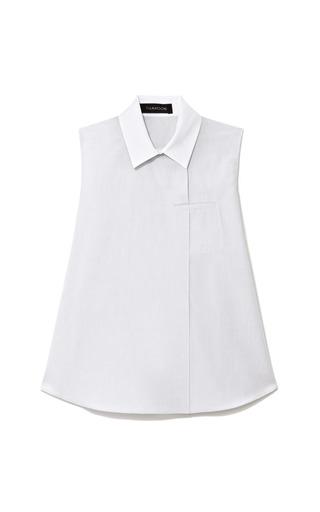 Contrast Collar Cotton Poplin Top by THAKOON Now Available on Moda Operandi