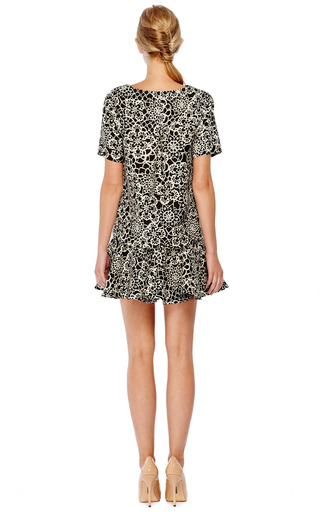 Floral Print Wool Blend Flared Mini Skirt by THAKOON Now Available on Moda Operandi