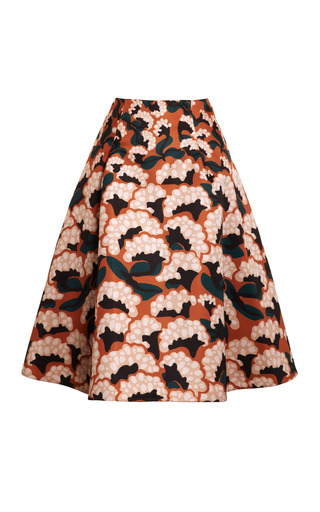 Floral Printed Gazar Skirt by THAKOON Now Available on Moda Operandi