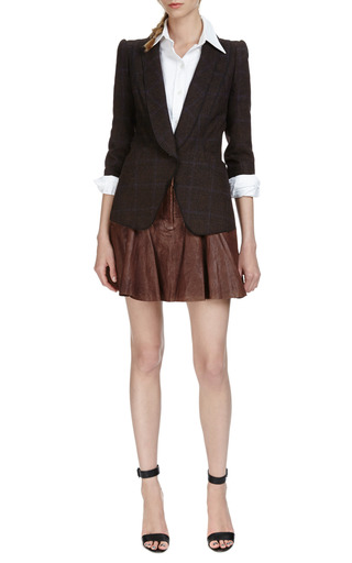 Leather Mini Skirt by THAKOON ADDITION Now Available on Moda Operandi
