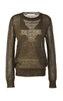 Mohair Blend Open Knit Sweater by THAKOON ADDITION Now Available on Moda Operandi