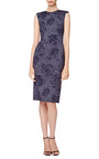 Rose Print Fitted Dress by THOM BROWNE Now Available on Moda Operandi