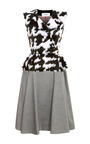 Feather Embroidered Full Skirted Dress by THOM BROWNE Now Available on Moda Operandi