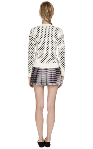 Pleated Silk Jacquard Mini Skirt by THOM BROWNE Now Available on Moda Operandi