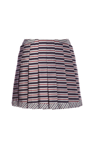 Medium thom browne multi pleated silk jacquard mini skirt