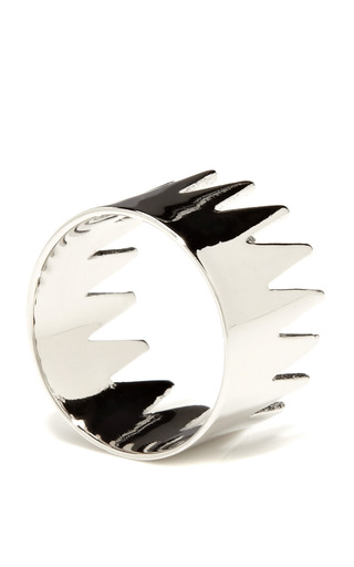 Silver Plated Thorny Ring by ANNELISE MICHELSON Now Available on Moda Operandi
