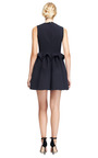 Wool Crepe Sculpted Waist Dress by DELPOZO Now Available on Moda Operandi