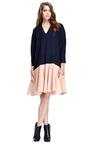 Two Tone Drop Waist Dress by DELPOZO Now Available on Moda Operandi