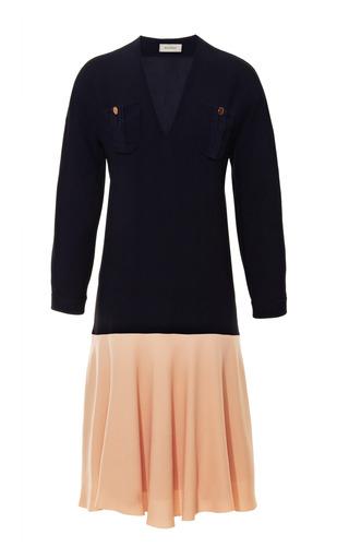 Medium delpozo blue two tone drop waist dress