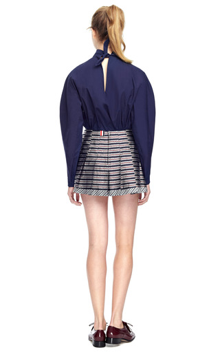 Poplin Neck Tie Shirt by DELPOZO Now Available on Moda Operandi